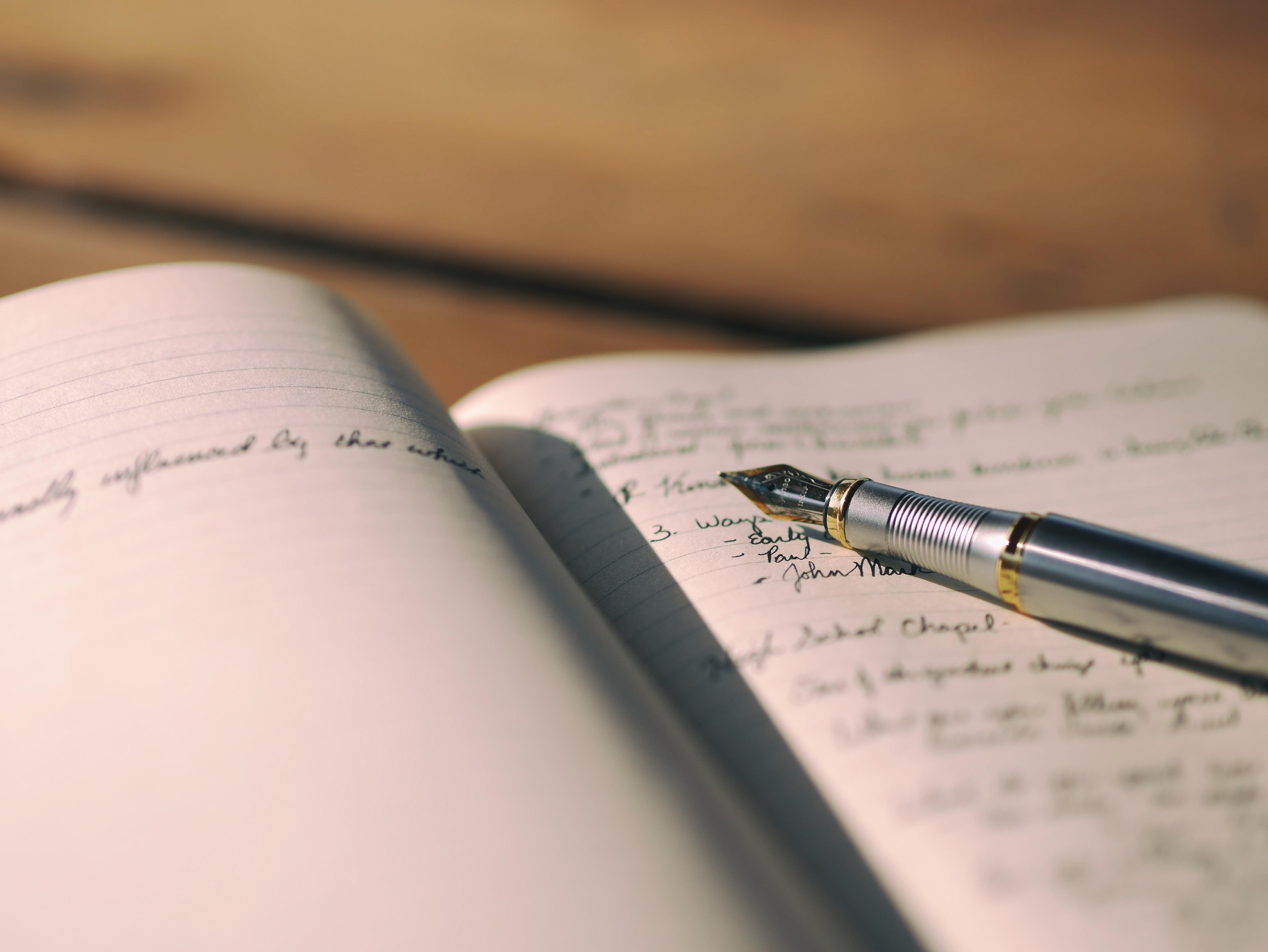 Journal + pen - aaron-burden-90144
